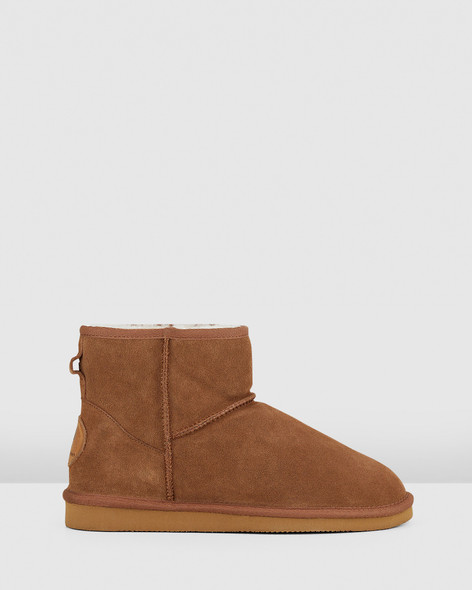 Hush Puppies Mens LORRY Chestnut Suede