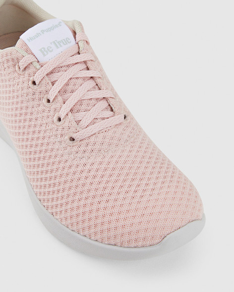 Hush Puppies Womens THE GOOD LACEUP W Pale Blush Textile