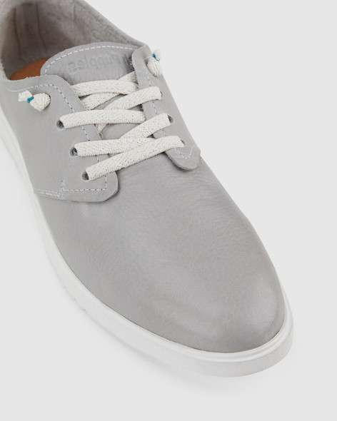 Hush Puppies Womens THE EVERYDAY LACEUP W Vapor Grey Leather