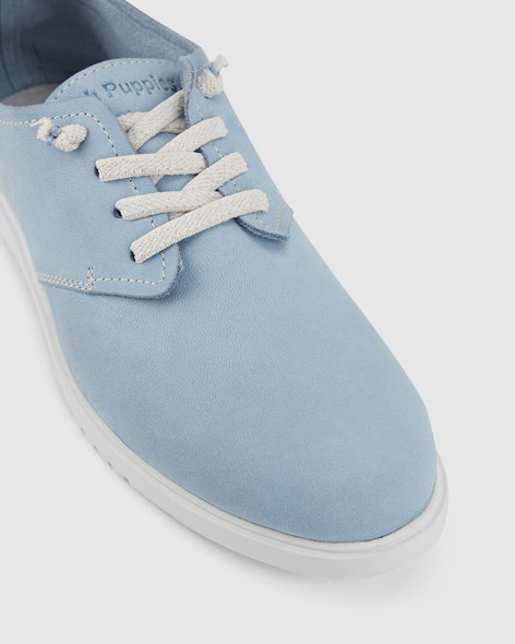 Hush Puppies Womens THE EVERYDAY LACEUP W Blue Dusk Nubuck