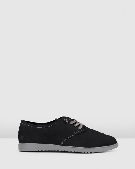 Hush Puppies Womens THE EVERYDAY LACEUP W Black Nubuck