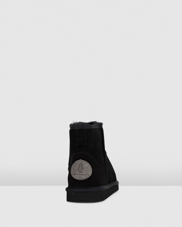 Hush Puppies Mens LORRY Black Suede