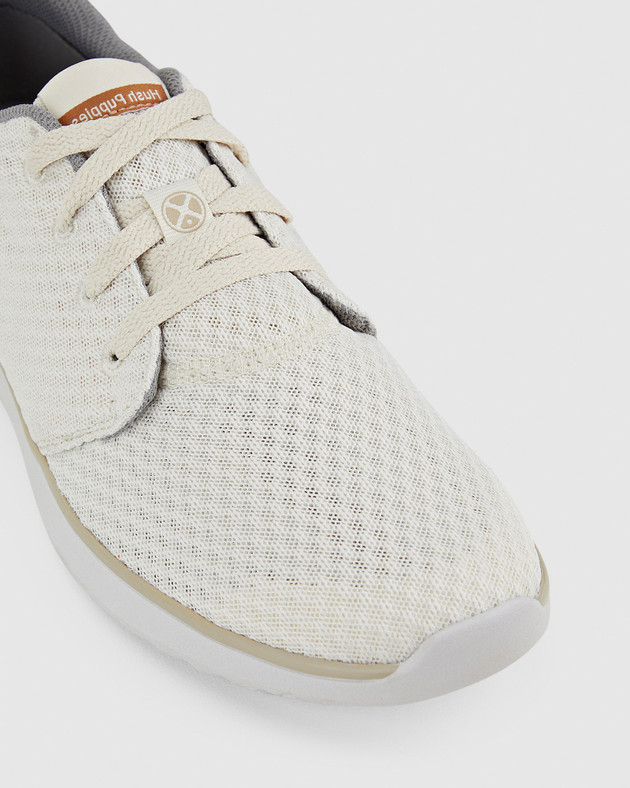 Hush Puppies Mens THE GOOD LACEUP M Light Stone Textile