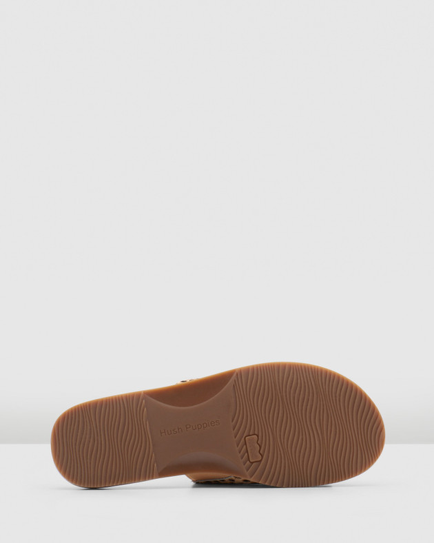 Hush Puppies Womens PARADISE Tan Spotted Leopard