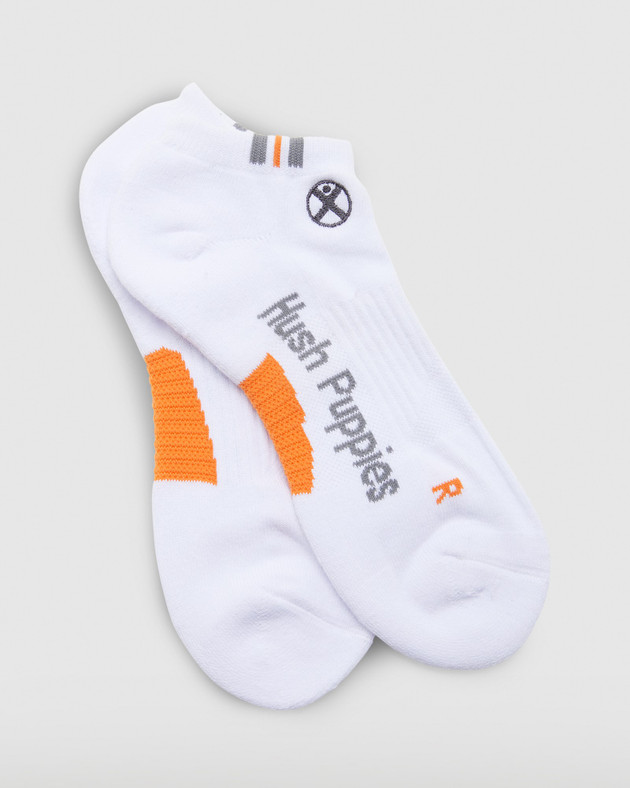 Hush Puppies Mens White  Mens Sport Ankle