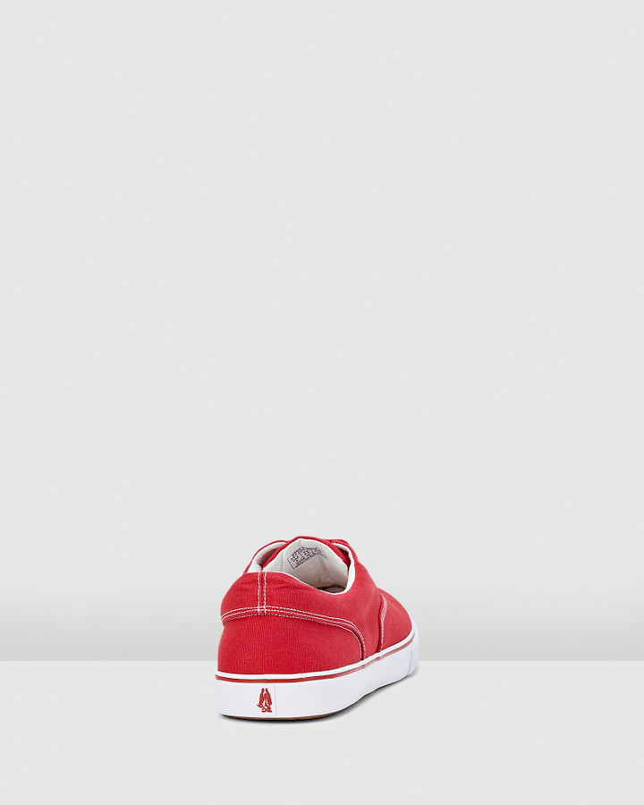 Hush Puppies Chandler Sneaker Red Canvas
