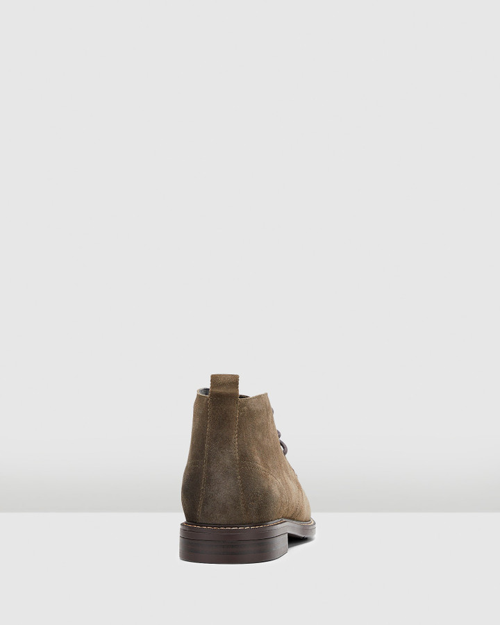 Hush Puppies Harbour Olive Suede
