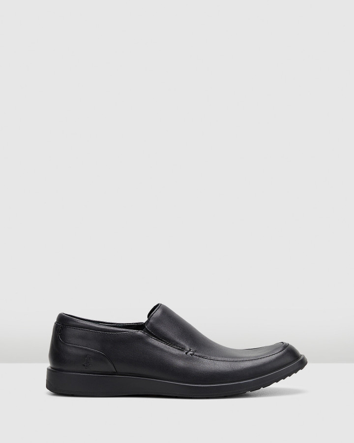Hush Puppies Vitrus Mt Slip On Black Leather