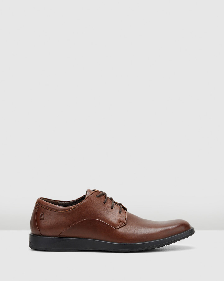 Hush Puppies Vitrus Pt Oxford Dark Brown Leather