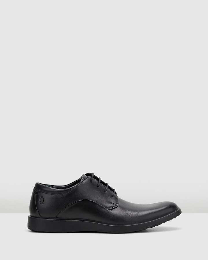 Hush Puppies Vitrus Pt Oxford Black Leather