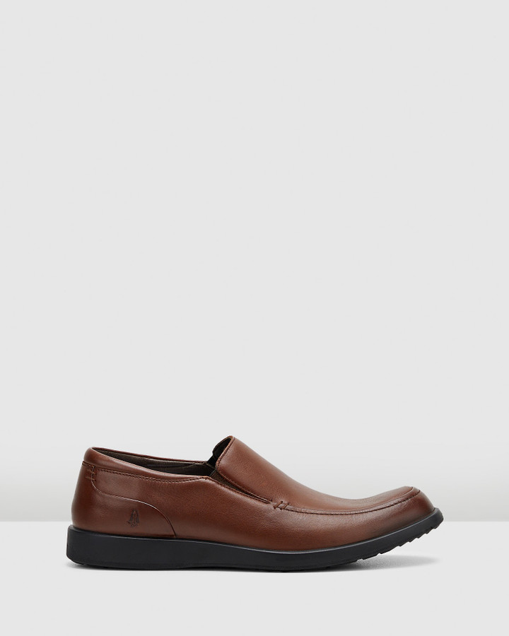 Hush Puppies Vitrus Mt Slip On Dark Brown Leather