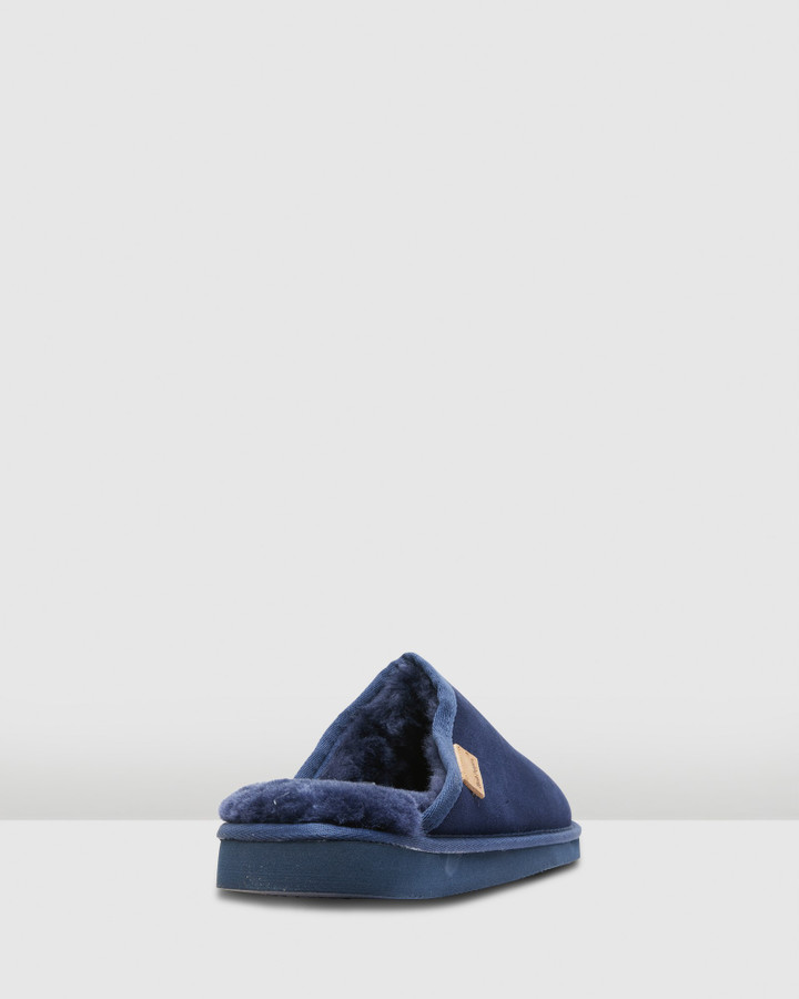 Hush Puppies Loch Navy Suede