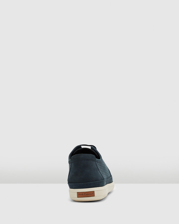 Hush Puppies Sullivan Navy Nubuck Perf