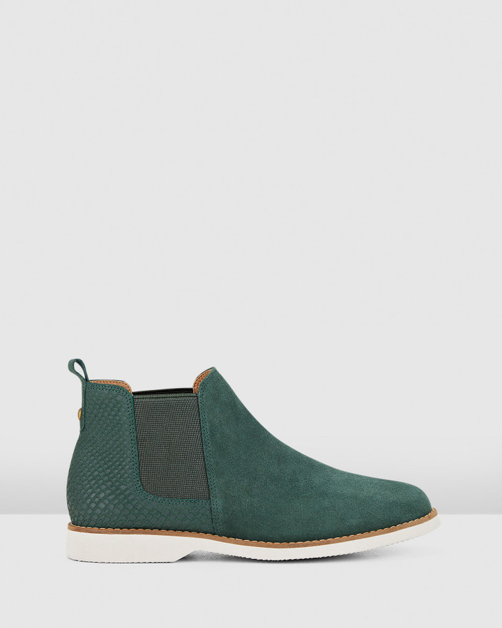 Hush Puppies Darya Bottle Green Suede