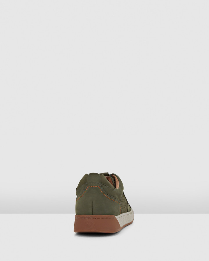 Hush Puppies Ampato Bottle Green Nubuck