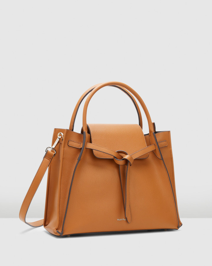Hush Puppies Reboni Satchel Camel
