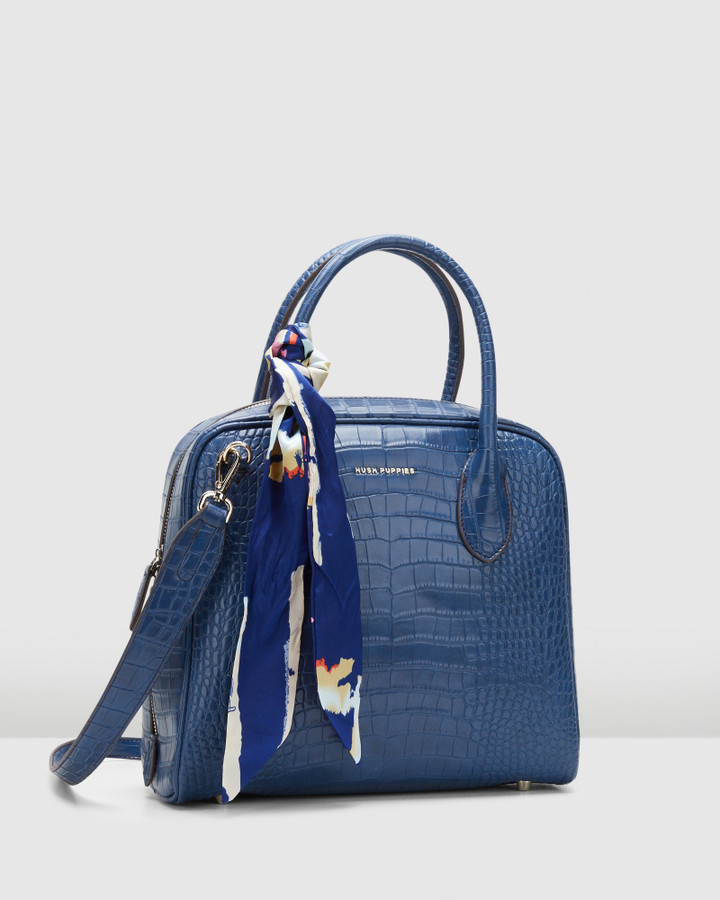 Hush Puppies Ally Satchel Blue
