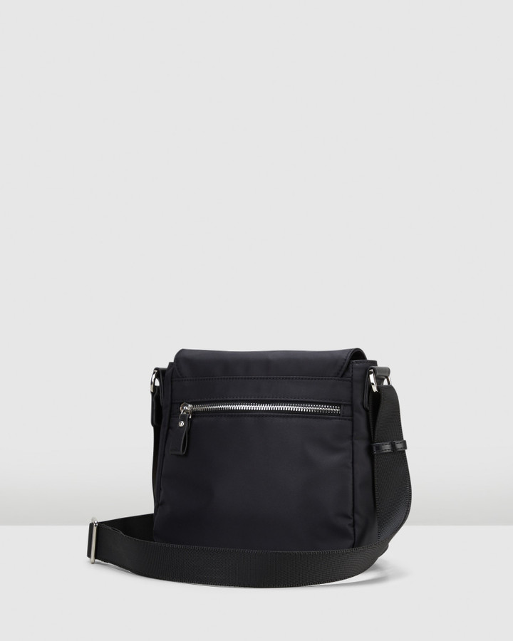 Hush Puppies Dara Flap Sling Black