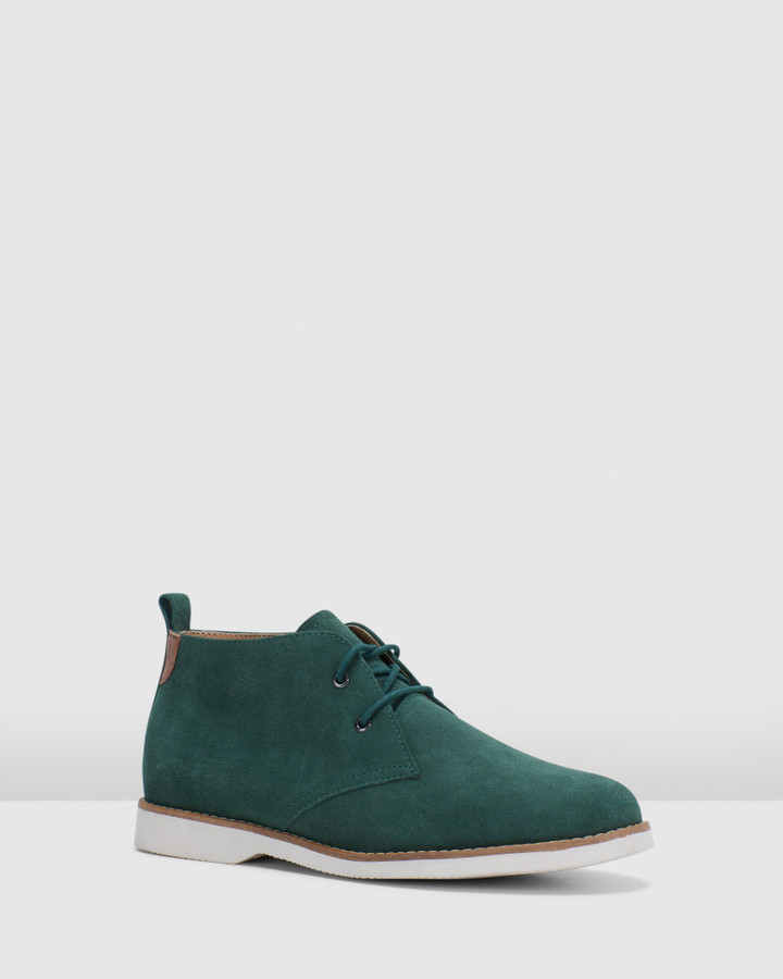 Hush Puppies Deena Bottle Green Suede