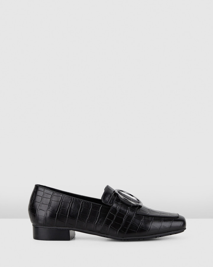 Hush Puppies Savannah Black Croc