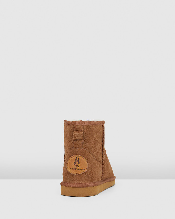 Hush Puppies Lorry Chestnut Suede