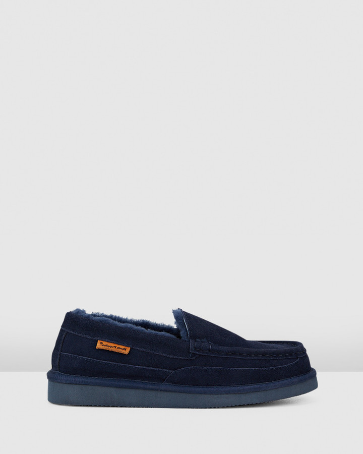 Hush Puppies Leander Navy Suede