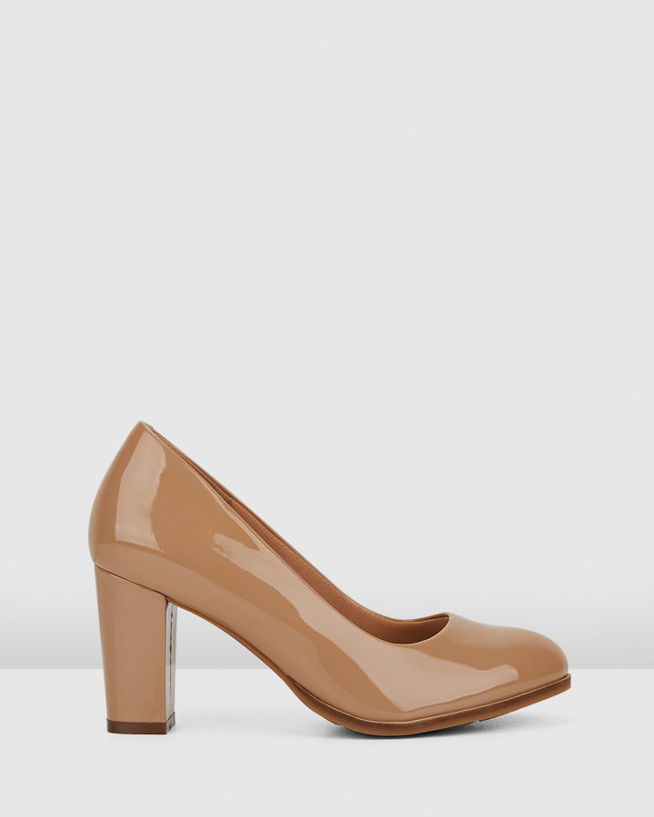 Hush Puppies The Tall Pump Nude Patent