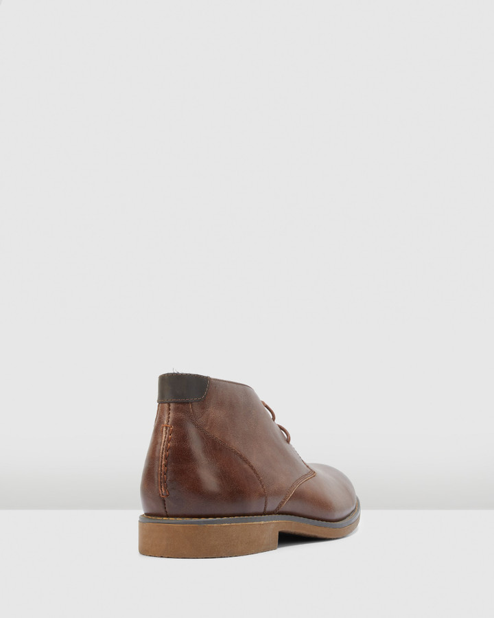 Hush Puppies Terminal Brown Burnish Leather