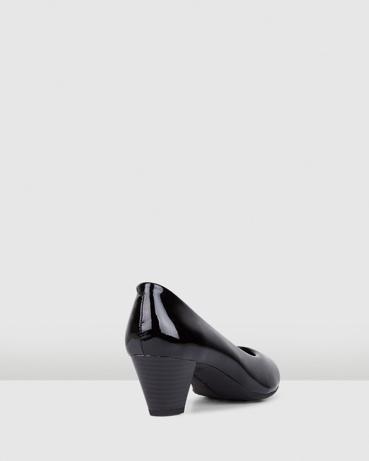 Hush Puppies Carmel Black Patent