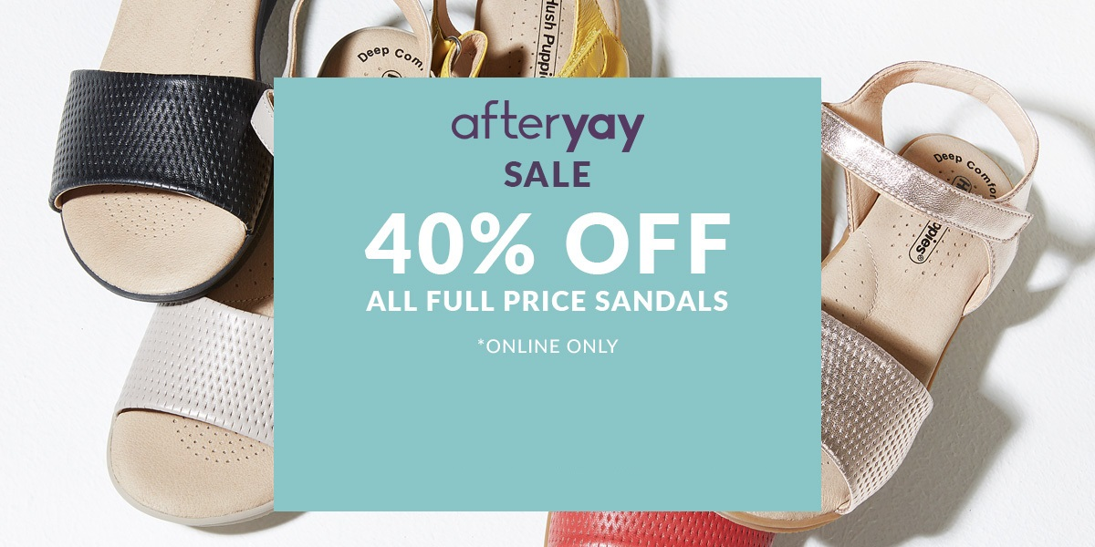 40% off Full Priced Sandals
