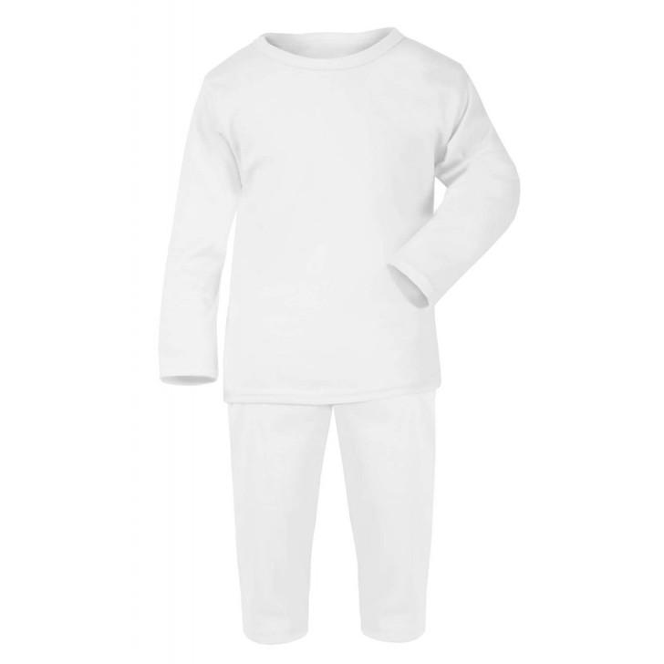 White Baby Long Sleeve Pyjama Set