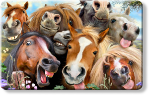 Horses Selfie - Howard Robinson smile