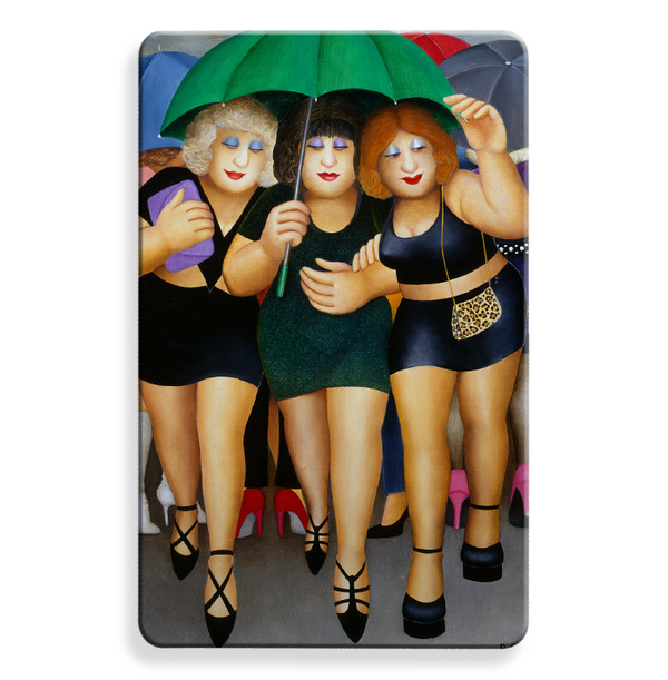 Beryl Cook RFID Contactless Protection card - Clubbing in the rain