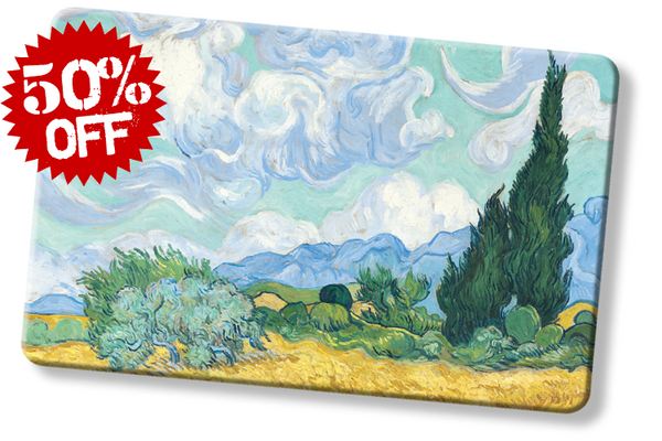 rfid card, Wheatfields with Cypresses by Van Gogh - National Gallery London instructions