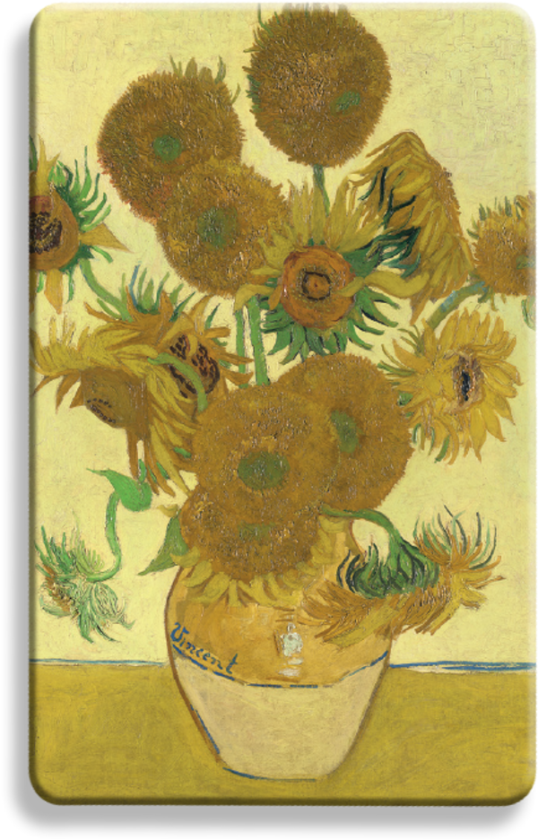 Sunflowers by Van Gogh - National Gallery London RFID blocker card contactless
