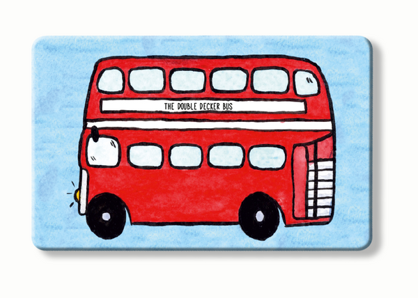 Double Decker Bus  - To Home From London - Contactless blocker card