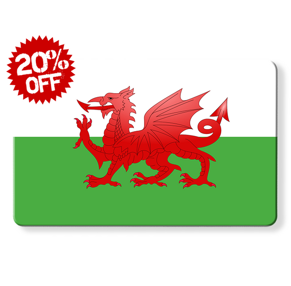 rfid card - Welsh flag, Myne cards, uk flag