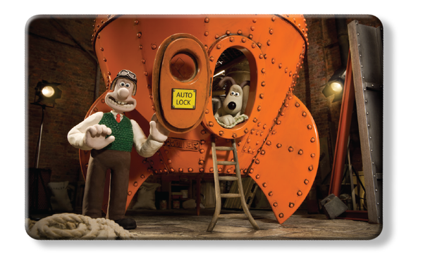 Reach for the Sky - Wallace & Gromit rocket grand day out myne card