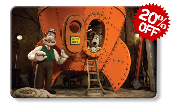 rfid card, Reach for the Sky - Wallace & Gromit rocket grand day out myne card