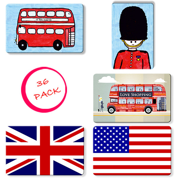 All London and Tourism Themed Myne Cards - 36 Pack