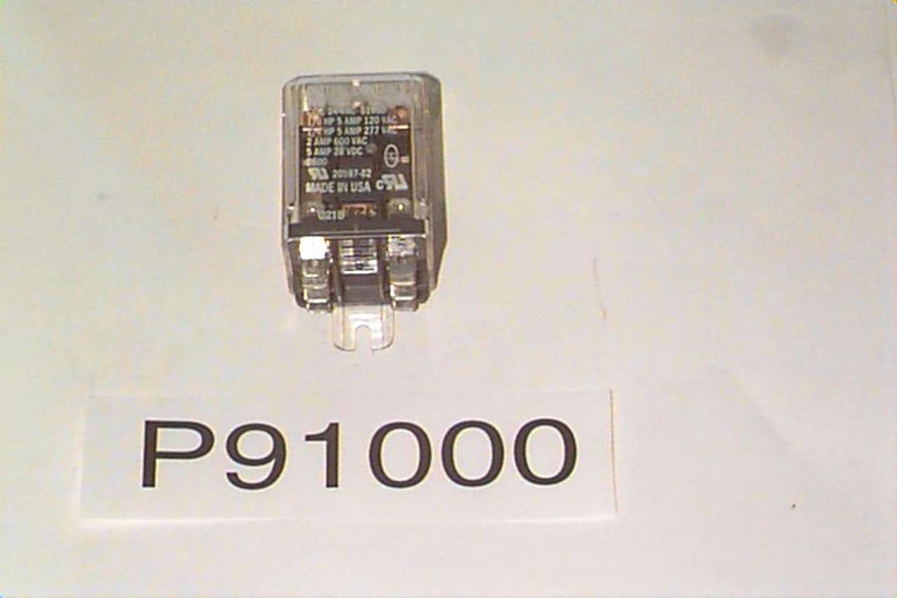 P91000 Relay, DPDT 5A/24VAC