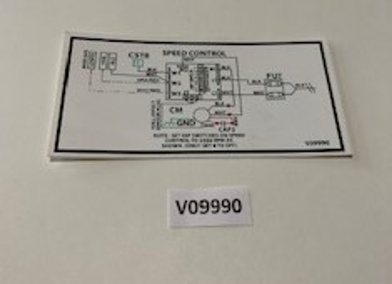 Decal, EAC6 Dip Switch Setting, Aaon, V09990