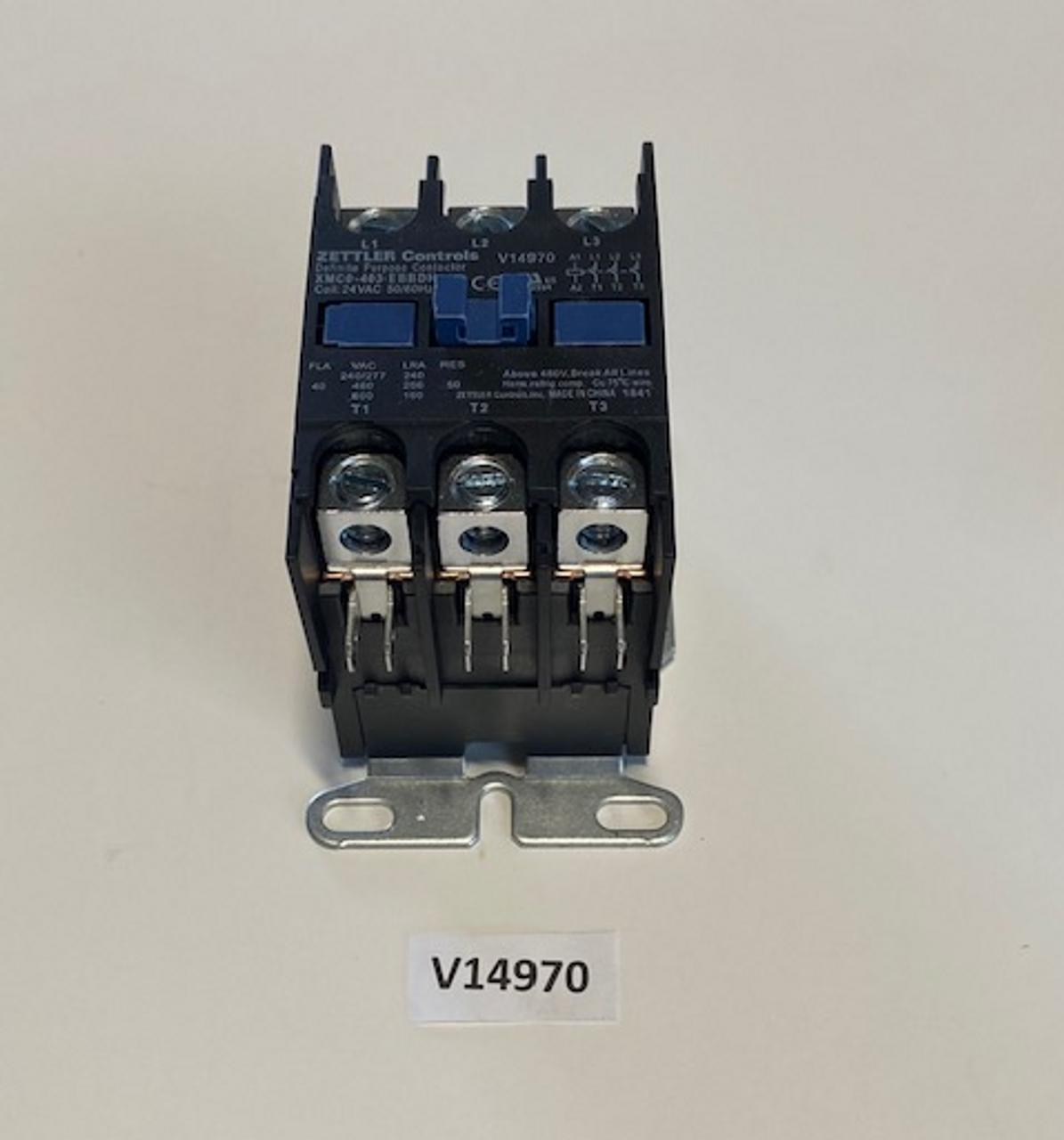 Contactor, 3P/40A/600V, Aaon, V14970