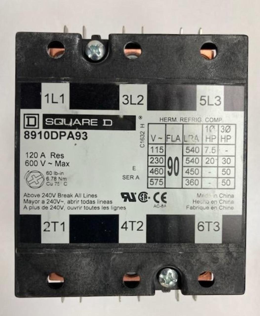R08680 CONT 3P/90A/24V/600V SQ-D