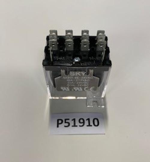 Relay, 4PDT Idec, 24 VAC, Aaon, P51910