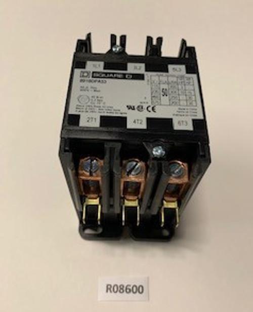 Contactor, 3P/50A/24V/600V SQ-D, Aaon, R08600