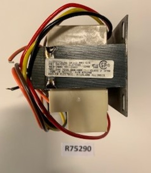 Transformer, 75VA/208-230V/24V, Aaon, R75290