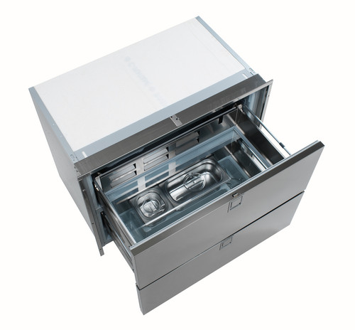 Isotherm Double Drawer 190 Refrigerator (no freezer) - Stainless Steel