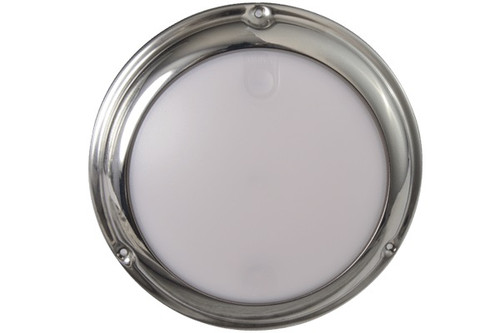 Lumitec Touch Dome White/Red LED Light Stainless Finish 12/24v