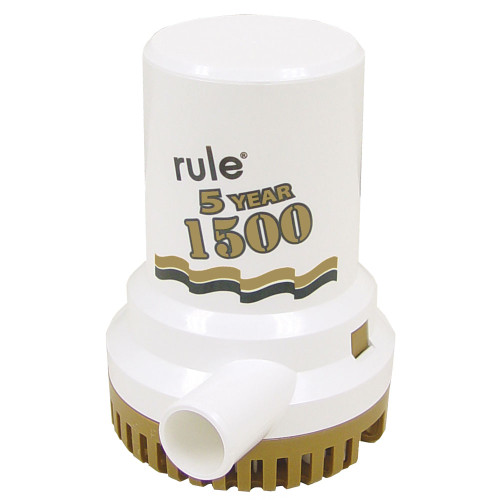 "Rule 1500 G.P.H. ""Gold Series"" Bilge Pump, 04"